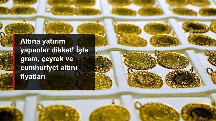 Güne yükselişle başlayan altının gram fiyatı 469,5 liradan işlem görüyor