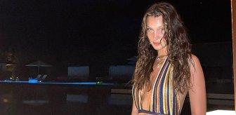 Dünyaca ünlü model Bella Hadid, kıyafetiyle olay oldu! Gören dönüp bir daha baktı