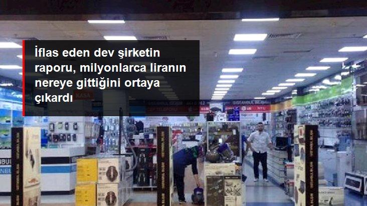 İflas kararı verilen İstanbul Bilişim'in raporu, aile hesabına milyonlarca liranın gönderildiğini ortaya çıkardı