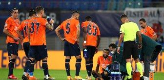 Başakşehir-Leipzig maçında korku dolu anlar! Yıldız isim apar topar hastaneye kaldırıldı