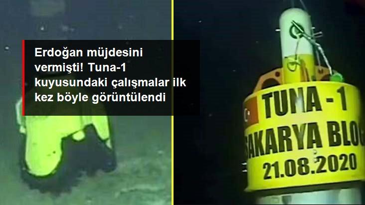 Erdoğan'ın duyurduğu yeni doğal gaz müjdesi için çalışmalar başladı! İşte Tuna-1 kuyusundan ilk görüntüler