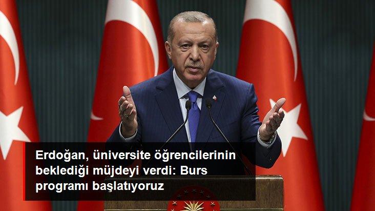 Cumhurbaşkanı Erdoğan'dan üniversite öğrencilerine müjde: Stajyer Araştırmacı Burs Programını başlatıyoruz