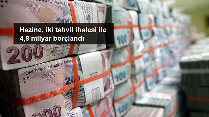 Hazine, iki tahvil ihalesinde 4,8 milyar lira borçlanmaya gitti