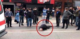 Kanlar içinde yere yığıldı! Yaşlı adamın feci şekilde hayatını kaybettiği kaza kamerada