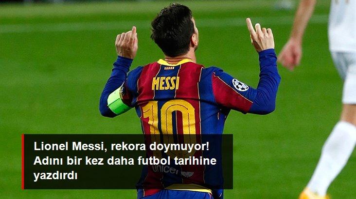 Lionel Messi, rekora doymuyor! Adını bir kez daha futbol tarihine yazdırdı
