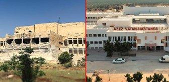 Milli Savunma Bakanlığı da sosyal medyadaki akıma katıldı! İşte Suriye'deki şehir hastanesinin son hali