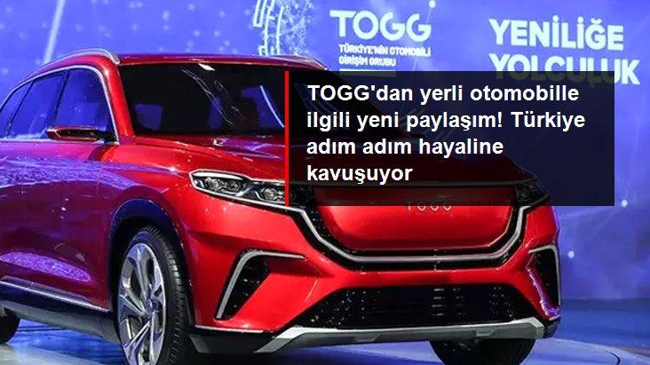 TOGG'dan yerli otomobilin fabrikasının inşaatıyla ilgili paylaşım: Çalışmalar hızla devam ediyor