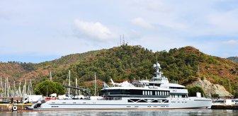 Haftalık kirası 950 bin dolar olan yüzen saray, turizm cenneti ilçemize demir attı