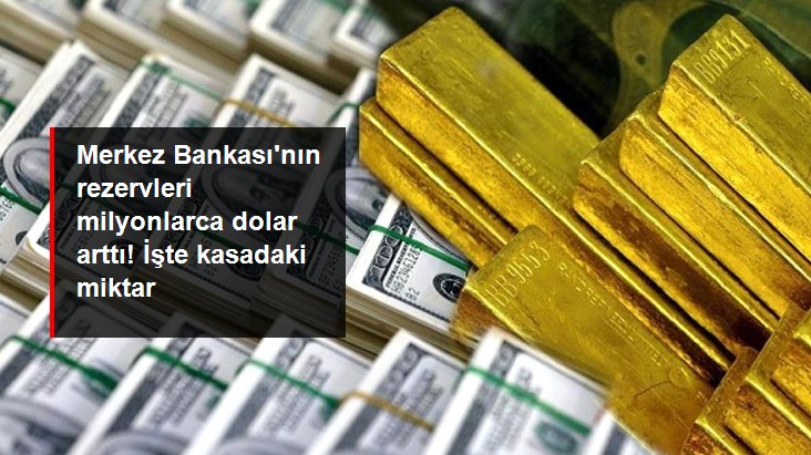 Merkez Bankası'nın rezervleri 1 milyar 894 milyon dolar arttı