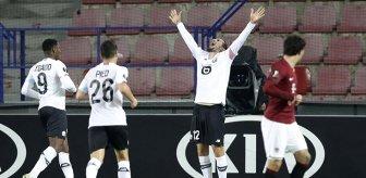 Yusuf Yazıcı, Lille formasıyla Sparta Prag karşısında 3 gol attı