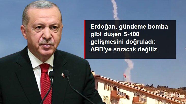 Son Dakika: Cumhurbaşkanı Erdoğan, Sinop'ta S-400'lerin test edildiğini doğruladı
