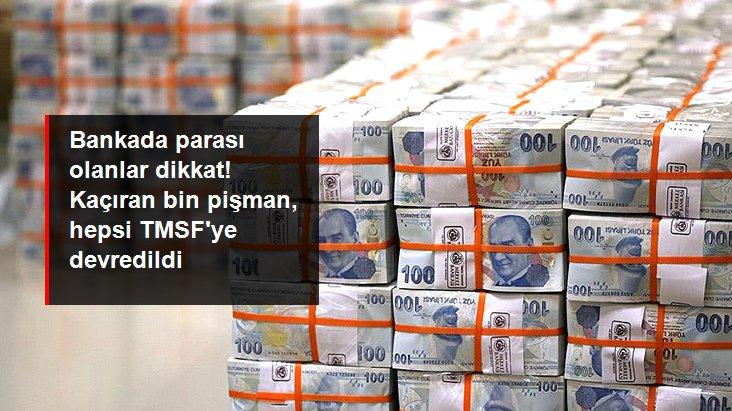 Bankalarda unutulan 217 milyon lira TMSF'ye devredildi