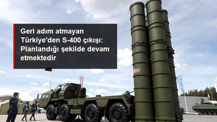 Milli Savunma Bakanı Hulusi Akar'dan S-400 çıkışı: S-400'lerin kontrollerine planlandığı şekilde devam ediyoruz
