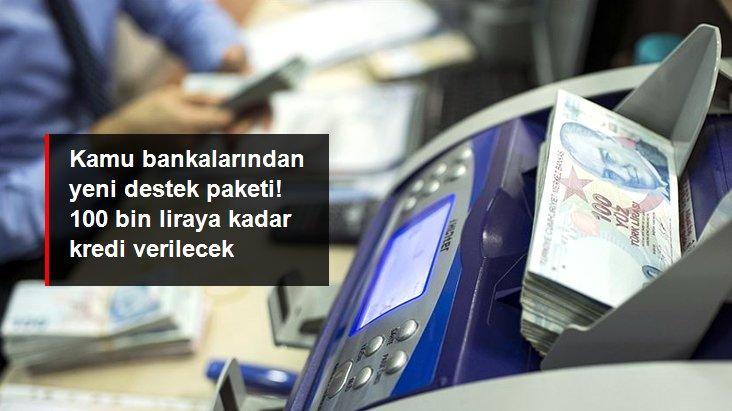 Son dakika: Kamu bankalarından yeni destek paketi: KOBİ'lere 100 bin liraya kadar kredi verilecek