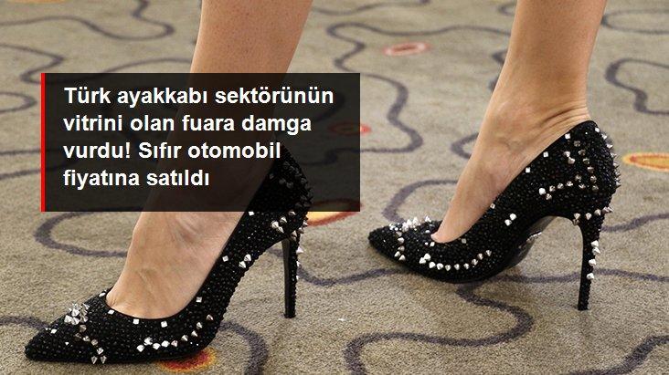Türk ayakkabı sektörünün vitrini olan fuara 108 bin TL'lik ayakkabı damga vurdu