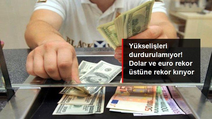 Son dakika: Yükselişleri durdurulamıyor! Dolar ve eurodan yeni rekor geldi