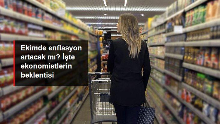 Ekonomistler enflasyonun ekim ayında yüzde 2,01 artmasını bekliyor