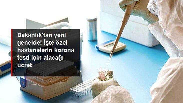 Özel hastanelerde koronavirüs test ücreti 250 TL olacak
