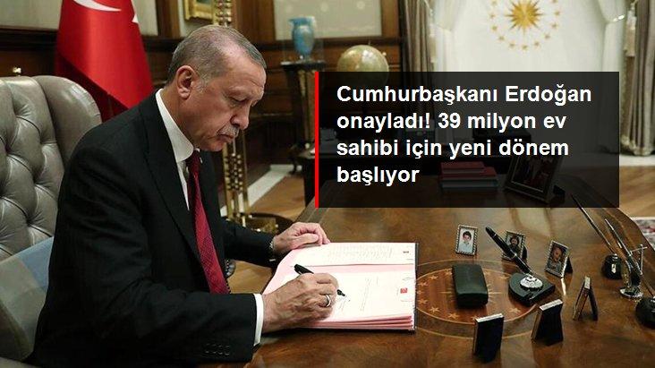 Cumhurbaşkanı Erdoğan onayladı: 39 milyon konut için değer takip sistemi geliyor