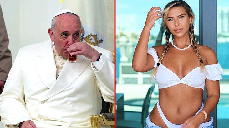 Papa Francis bikinili modelin cesur pozunu beğendi, sosyal medya yıkıldı