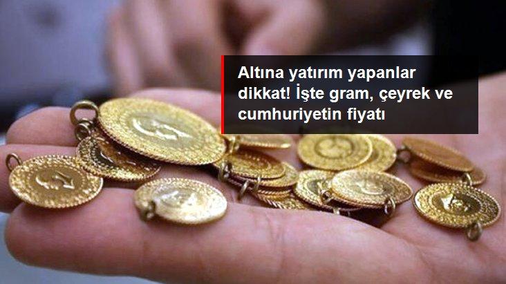 Güne düşüşle başlayan altının gram fiyatı 464 liradan işlem görüyor