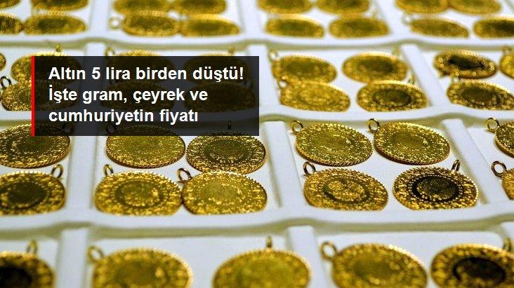 Güne 5 lira düşüşle başlayan altının gram fiyatı 453,5 liradan işlem görüyor