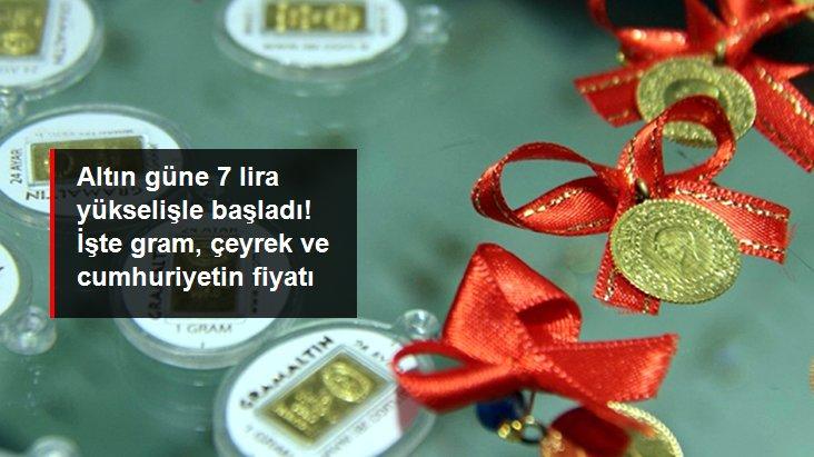 Güne yükselişle başlayan altının gram fiyatı 454 liradan işlem görüyor