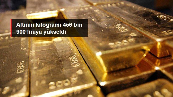 Altının kilogramı 456 bin 900 liraya yükseldi