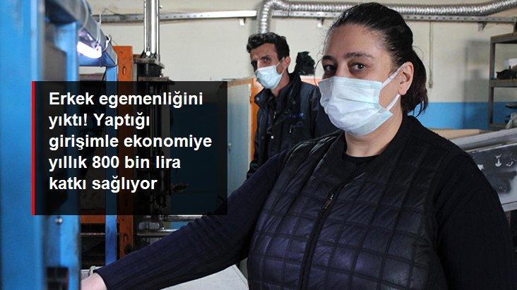 Sanayinin 'Aylin ablası', yılda 1 milyon 300 bin şişe üretip ekonomiye 800 bin lira katkı sağlıyor