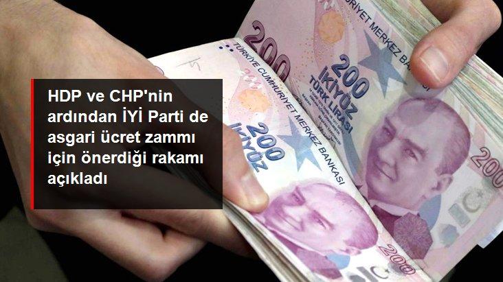 Son dakika! İYİ Parti'den asgari ücret zammı önerisi: 3 bin TL olsun