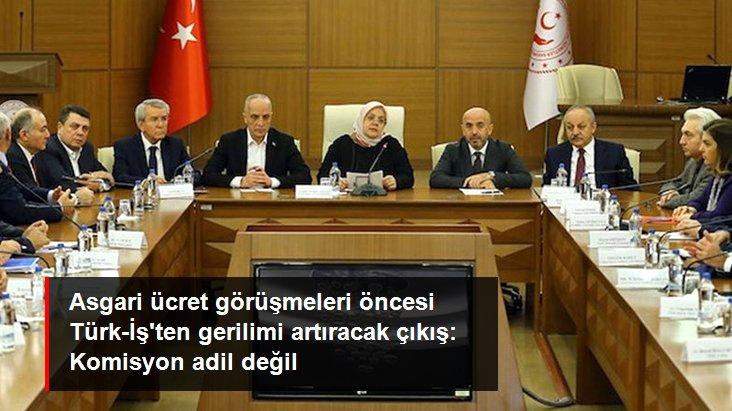 Asgari ücret görüşmeleri öncesi Türk-İş'ten gerilimi artıracak çıkış: Komisyon adil değil