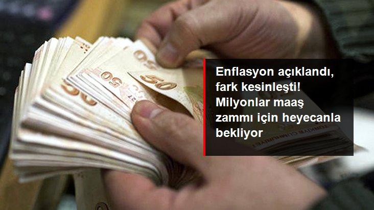 Kasımda yıllık enflasyonun yüzde 14,03 olmasıyla memura yüzde 3 fark, emekliye ise yüzde 7 zam göründü