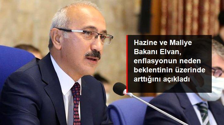Hazine ve Maliye Bakanı Lütfi Elvan: Gıda, petrol ve döviz fiyatlarındaki yükseliş nedeniyle enflasyon arttı