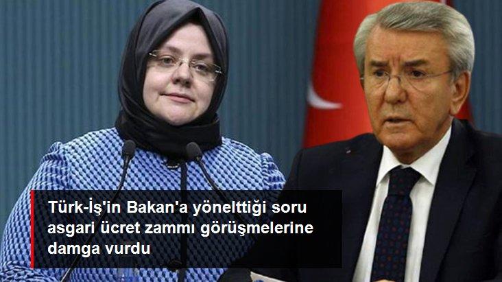 Türk-İş'in Bakan'a yönelttiği soru asgari ücret zammı görüşmelerine damga vurdu: Bu ücretle geçinmek mümkün mü?