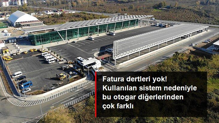 Ordu'da yapılan yeni otobüs terminali kendi elektriğini üretiyor