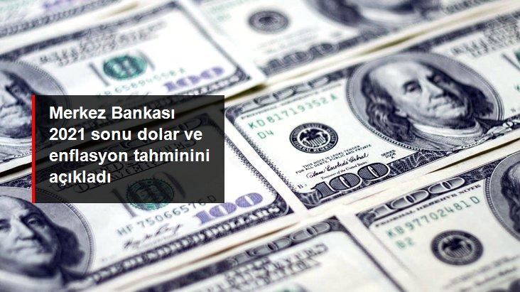 Son dakika: Merkez Bankası 2021 sonu enflasyon ve dolar tahminini açıkladı