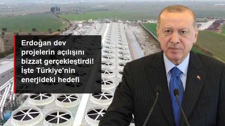 Erdoğan Manisa'daki enerji santrallerinin açılışını gerçekleştirdi: Yerli kaynaklarımıza dayalı enerji sistemi kuracağız