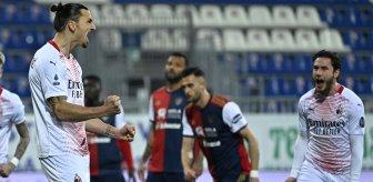 Cagliari'yi Zlatan Ibrahimovic ile geçen Milan, ligde liderliğini sürdürdü