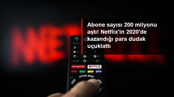 Abone sayısı 200 milyonu geçen Netflix, 2020'de 25 milyar dolar gelir sağladı