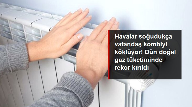 Türkiye'de 280 milyon metreküplük doğal gaz kullanımıyla rekor kırıldı