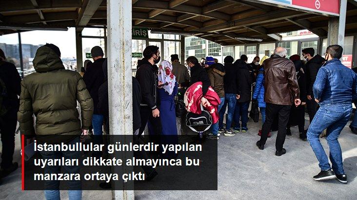 İstanbul'da metro ve metrobüslerde HES kodu kuyruğu