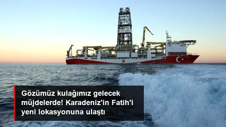 Fatih sondaj gemisi Karadeniz'deki yeni sondaj lokasyonu Türkali-2 kuyusuna ulaştı