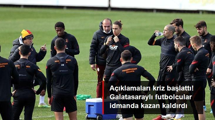 Açıklamaları kriz başlattı! Galatasaraylı futbolcular idmanda kazan kaldırdı