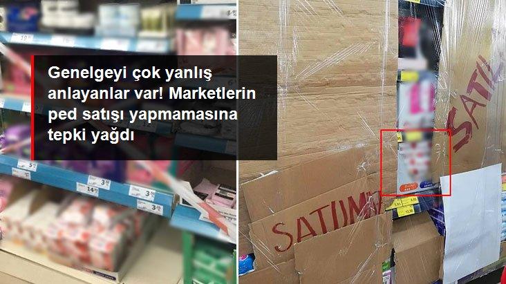 Bazı marketlerin hijyenik ped ve cinsel sağlık ürünleri satmaması sosyal medyada tepki çekti