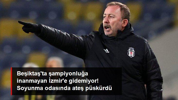 Beşiktaş ta şampiyonluğa inanmayan İzmir e gidemiyor! Soyunma odasında ateş püskürdü