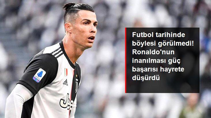 Futbol tarihinde böylesi görülmedi! Ronaldo nun inanılması güç başarısı hayrete düşürdü