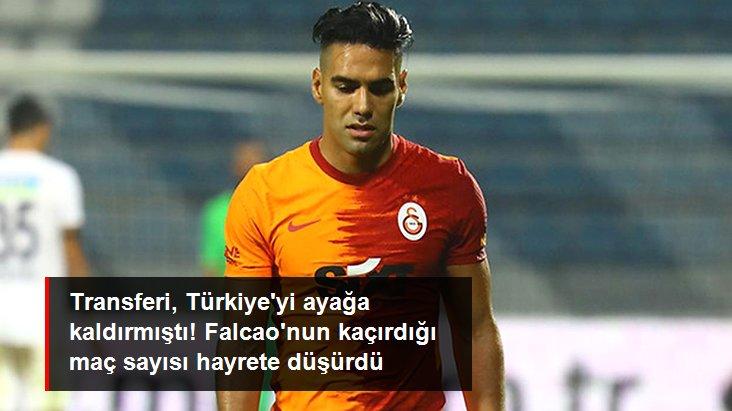 Transferi, Türkiye yi ayağa kaldırmıştı! Falcao nun kaçırdığı maç sayısı hayrete düşürdü