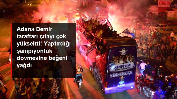 Adana Demir taraftarı çıtayı çok yükseltti! Yaptırdığı şampiyonluk dövmesine beğeni yağdı