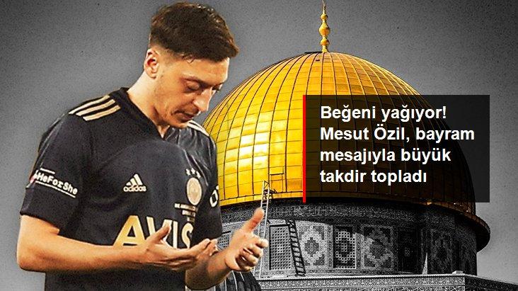 Beğeni yağıyor! Mesut Özil, bayram mesajıyla büyük takdir topladı