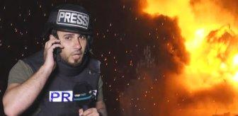 TRT Arabi muhabiri, canlı yayın esnasında İsrail'in bombalı saldırısına yakalandı